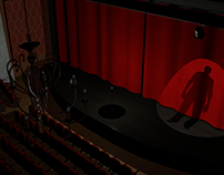 Haunted Theater 3D Environment