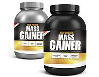 Fitness Shake Labels - MassGainer
