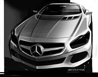 Mercedes CLS amg Sketch car