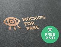Logo Golden Texture / Free PSD Mockup