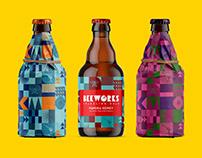 Beeworks Sparkling Mead Branding & Label Design