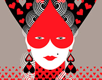 Queen of Hearts - redbubble fashion & interior design