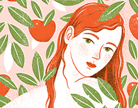Eve eating the forbidden fruit