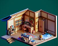 Diorama creator's bedroom