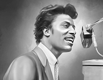 Little Richard Digital Painting by Wayne Flint