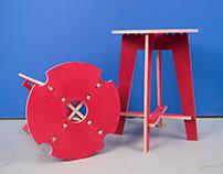 CNC Plywood Stool