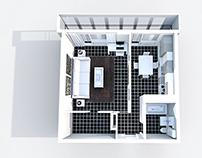 Interior Design # ONE – ROOM APARTAMENT