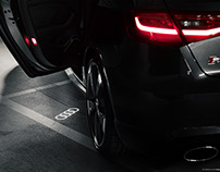 Audi door lights