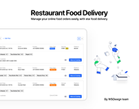 Restaurant Food delivery dashboard - UIUX Design