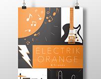 electrik orange show poster