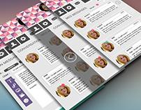 Prototypes Interface de Messagerie