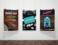 Huddle event posters