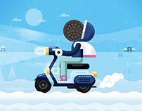Oreo artwork and animation