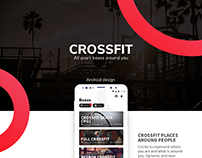 Crossfit Android App Design