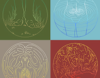 The Elements Quadriptych: Where Earth Meets Body