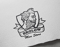 """Brolow"" logo for a men's store"