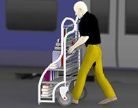 Mobile Bookshelves Cart for Book Vendors