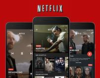 Netflix Material Redesign App concept