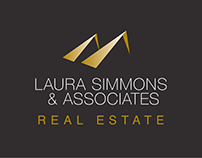 Laura Simmons & Associates Real Estate Logo Design