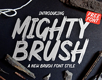 FREE | Mighty Brush Font
