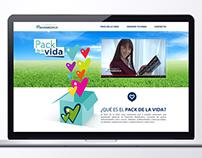 Fundación BANMEDICA / Sitio Pack de la vida