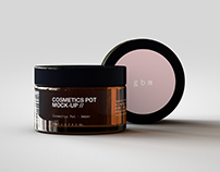 Cosmetics Pot Mock-Up