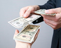 Receiving money