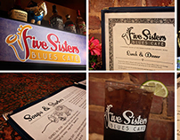 Five Sisters Blues Cafe Branding