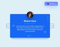 Testimonials UI Design - (Freebie)