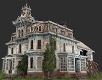 Old Abandoned Victorian House 3D