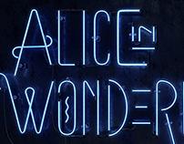 Alice in Wonderland lettering