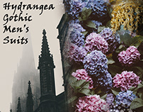 Hydrangea Gothic Men's Suits
