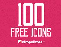 100 free vector lined & filled icons