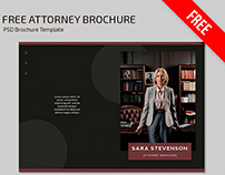 Free Attorney Brochure Template in PSD