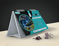 Sky Desk Calendar 2021
