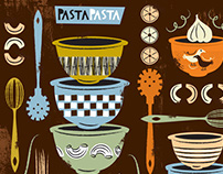Pasta and Pyrex: Bolt Fabric Design