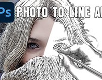 Photo to Line Drawing in Photoshop