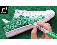 ADIDAS STAN SMITH CUSTOM USING SHARPIE