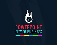 Powerpoint presentation template city of business