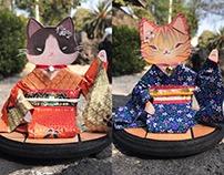 Kimono Kitties / Paper dolls