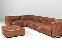 L Sofa 3D Model Download