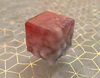 Burnt cube