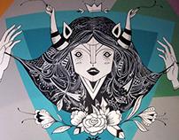 "Mural ""Rey Compadre Bar"""