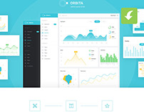 Orbita Free Admin Dashboard Panel (Freebie)