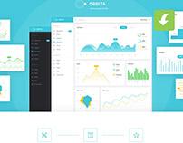 Orbita Free Admin Dashboard Panel (Freebie)