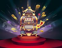 ILLUSTRATION of Slot machine