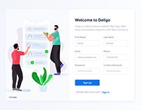 Sign Up - Daily UI (UIchallenge) #001