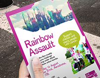 CLIC Sargent :: Rainbow Assault Event Flyers