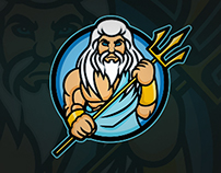 Poseidon Mascot Logo | For Sale