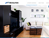 The revolution website design
